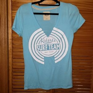 Hollister Surf Team V neck T shirt Large 👕 EUC